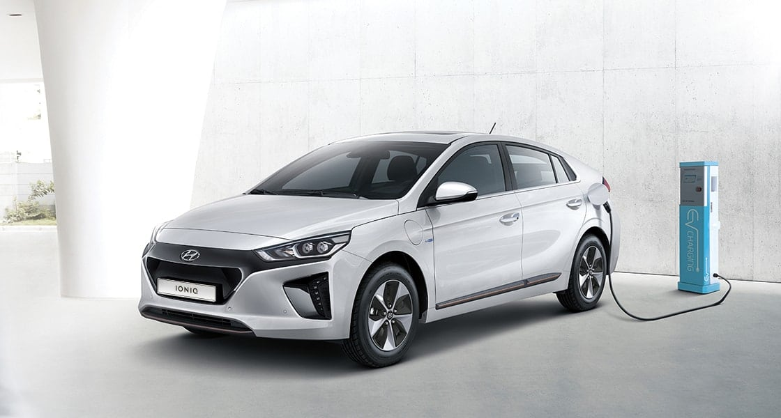 Ioniq Electric getting charged